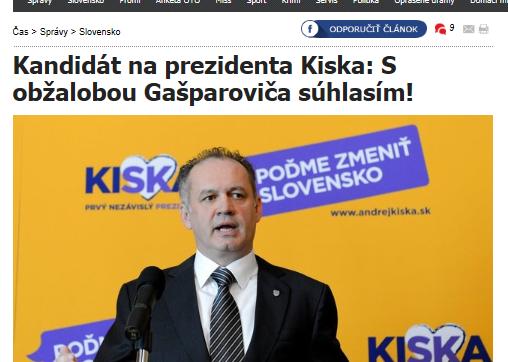 cas - Kiska - s obzalobou prezidenta suhlasim 1